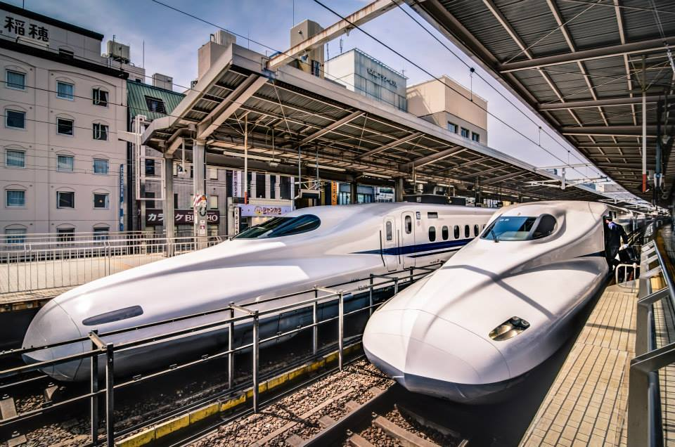 Nick Jackson with 'The Japanese Bullet Trains'