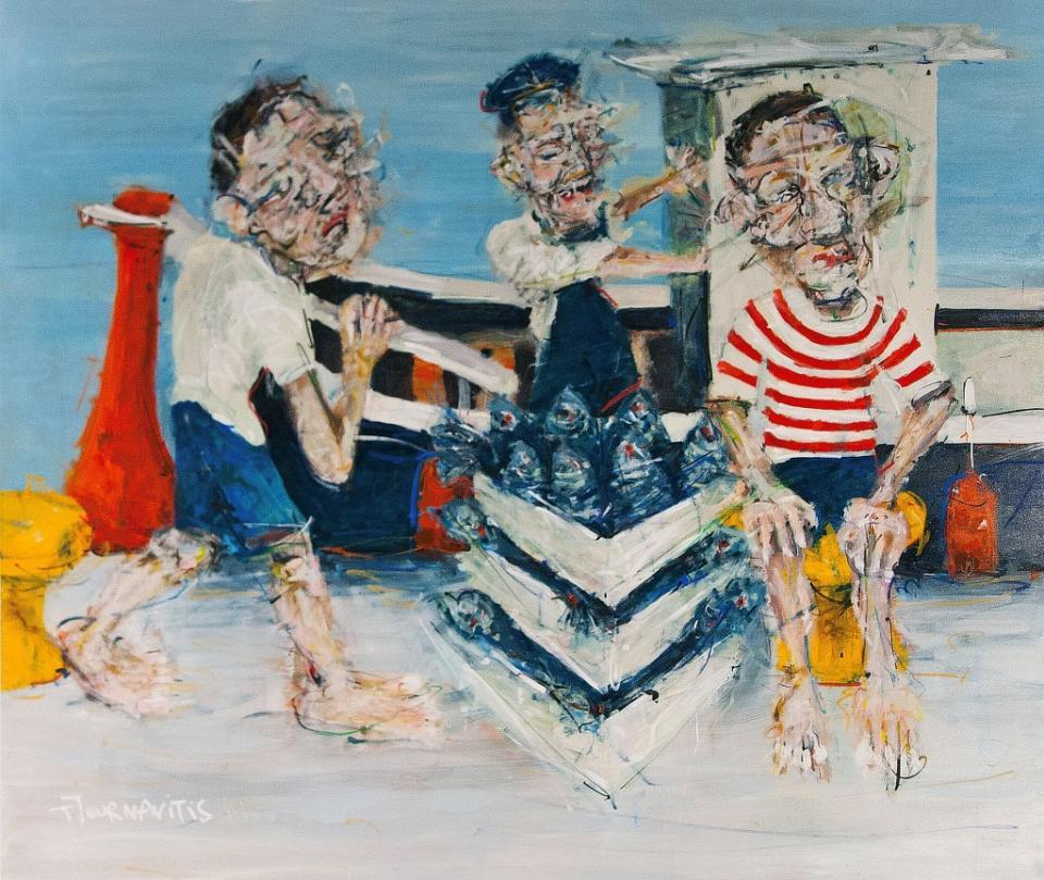 Fishing Boat, 180x220 cm, oil on canvas
